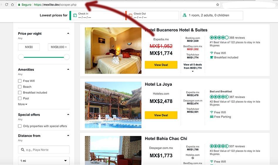 Resultados de hoteles de Isla Mujeres de TripAdvisor en Mexlike