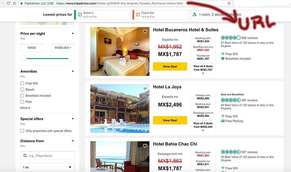 Hoteles de Isla Mujeres en TripAdvisor