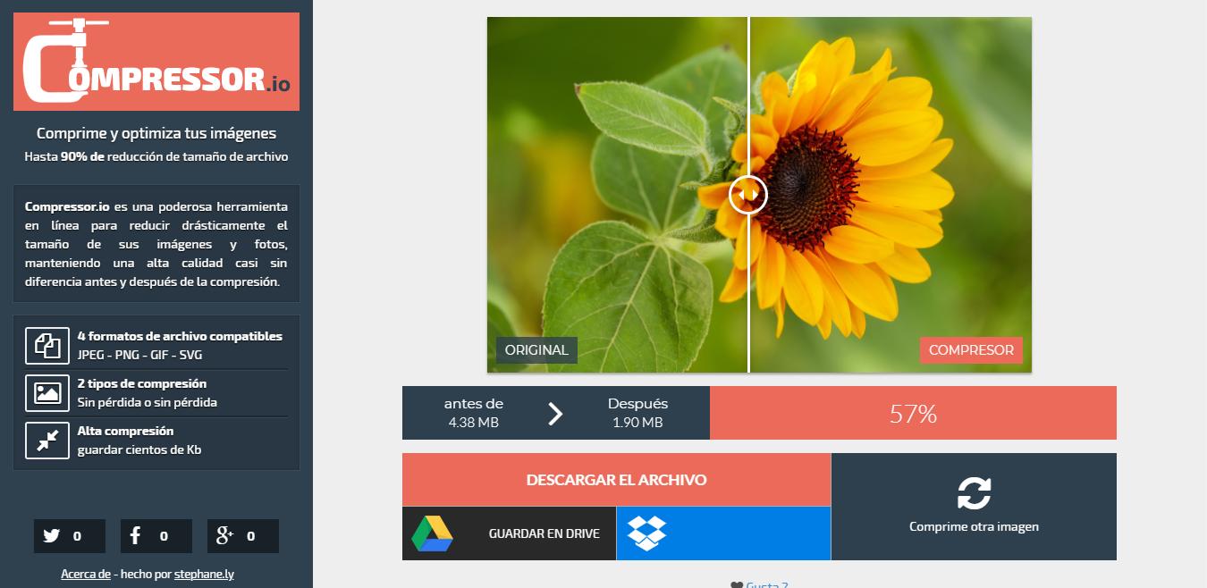 como reducir el peso de una imagen online
