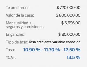 Hipoteca a 20 años para un valor de $ 800,000.00 pesos